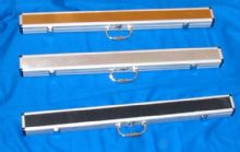 "ROSETTA CUE CASE 32"" SILVER ALUMINIUM CHROME SNOOKER POOL CASE FOR 2 PIECE CUE - 301189653194"